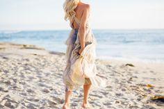Tiered Ocean Maxi Dress