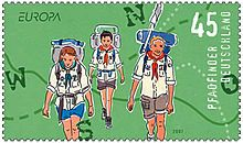 Briefmarke der Deutschen Post AG zur Hundertjahrfeier der Pfadfinderbewegung (2007)
