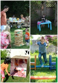 Great Ideas for Creative Backyard Play this summer - these are some awesome activities!