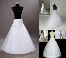 BRIDAL 3 HOOP White A-Line Petticoat Wedding Prom Underskirt Fit Size 8-12 UK