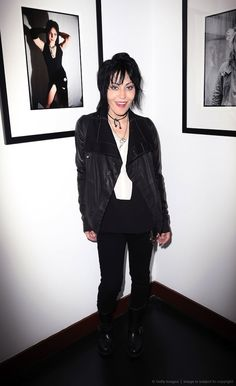 Joan Jett at the Hell In The City Of Angels: Chris Stein photo exhibition opening night at Morrison Hotel Gallery on August 9, 2013 in West Hollywood, CA.