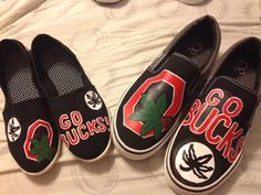 Ohio State University canvas painted shoes on Etsy, $50.00