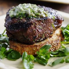 Grilled Filet Mignon with Herb Butter