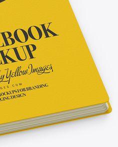 Notebook Mockup - Half Side View (High Angle Shot)