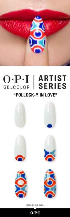 The beauty is in the details with our #OPIArtistSeries Design Gels. Loving this look inspired by the artist Jackson Pollock. Get the full Designscape Tutorial on the blog.