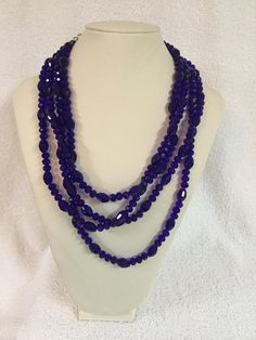 Necklace Earring Set: Crystal Necklace Set. Cobalt Blue Crystal Necklace Set. Cobalt Blue Crystal Jewelry. Would make great prom jewelry.