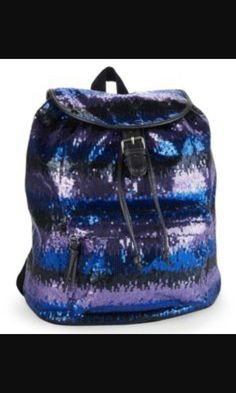 Shop Women's Aeropostale size OS Backpacks at a discounted price at Poshmark. Description: Adorable purple and blue sequin backpack. Sequin Backpack, Striped Backpack, Diaper Bag Backpack, Aeropostale Outfits, Sparkle Outfit, Cute Backpacks, Girls Bags, Cool Fabric, Guys And Girls