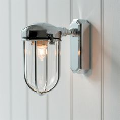 A super sweet #bathroom #wall #light. Perfect either side of a #mirror.