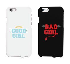 Bad Girl Good Girl White And Black Cute BFF Matching Phone Cases Gift - iPhone cases - Phonecases Bff Iphone Cases, Iphone 4, Bff Cases, Girl Phone Cases, Funny Phone Cases, Diy Phone Case, Phone Cover, Lg Phone, Apple Iphone