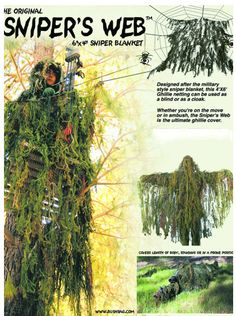 Sniper's Web Hunting Blind & Cloak Woodland ****discontinued | Ghillie Accessories | Ghillie Suit | Ghillie Suits For Sale | GhillieSuits.org