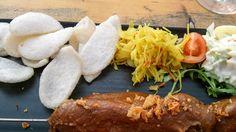 Satay in Erdnuss-Sauce