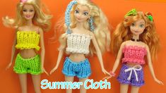 Rainbow Loom Summer Cloth Frozen Elsa, Anna, Barbie Wearable - How to Loom Bands Tutorial Copyright ©2015 by Creative Ideas www.ElegantFashion360.com All rig...