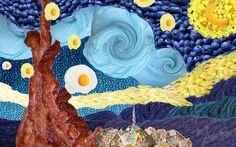middle school art projects ideas   Photoshop Master Artist Project Bacon & Eggs Starry Night by one of my ...
