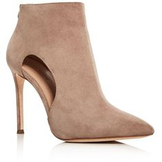Pour La Victoire Cierra High Heel Pointed Toe Booties (6935520 BYR) ❤ liked on Polyvore featuring shoes, boots, ankle booties, taupe, short boots, bootie boots, high heel boots, pointy-toe ankle boots and taupe ankle boots