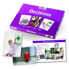Pick of the Week: Decisions ColorCards – Teach reasoning skills in problem situations. Inspire rational decision-making with Decisions, a set of 30 beautifully clear images printed on large photo cards.