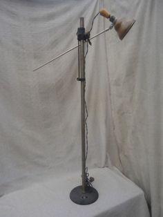 Vintage Industrial Steampunk Adjustable Floor Lamp Light | eBay