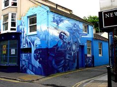 Graff' in the north laines of brighton. It's things like this that attract me to living there, a proper creative space.