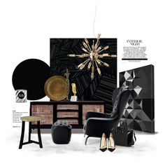 """Guelfo by Opinion Ciatti..."" by gloriettequartet ❤ liked on Polyvore featuring interior, interiors, interior design, home, home decor, interior decorating, Burke Decor, Opinion Ciatti, Nuevo and Bosa"
