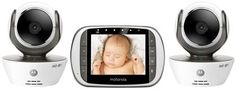 Always getting up to do one more check? Keep an eye on baby with this Motorola wi-fi baby monitor. #baby #babymonitor #camera #iseeyou #safety #wifi #motorola Digital Video Baby Monitor w/ Wi-Fi & Two Cameras - MBP853CONNECT