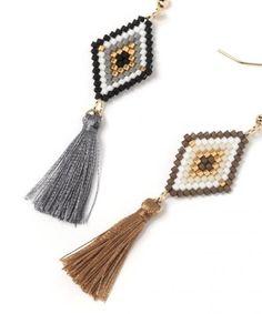 Beaded Earrings Native, Beaded Earrings Patterns, Seed Bead Earrings, Diy Earrings, Earrings Handmade, Beaded Jewelry, Handmade Jewelry, Loom Bracelet Patterns, Bead Loom Bracelets