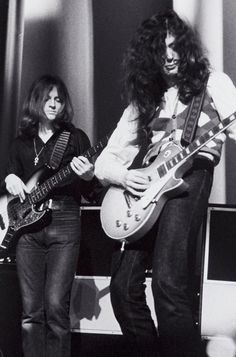 The talented John Paul Jones and beautiful Jimmy Page of Led Zeppelin!!!!