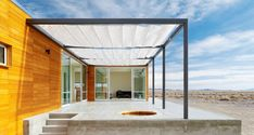 The Rondolino residence, a small prefab house in the desert by nottoscale
