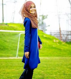 in blue color