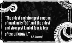 Famous horror quotes - H. P Lovecraft
