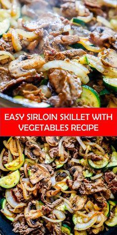 Top Sirloin Recipes, Thin Steak Recipes, Top Sirloin Steak Recipe, Sirloin Steaks, Easy Recipes, Vegan Recipes, Dinner With Mushrooms, Food 52, Vegane Rezepte