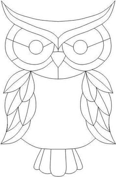 stained glass window quilt patterns for beginners - - Yahoo Image Search Results Owl Patterns, Quilling Patterns, Applique Patterns, Quilt Patterns, Free Mosaic Patterns, Owl Applique, Free Pattern, Stained Glass Birds, Stained Glass Projects