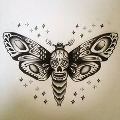 Moth tattoo designed by Sarah Campbell... I love it