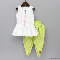 Pre Order: Tulip Pants With Top Baby Girl Frocks, Frocks For Girls, Little Girl Dresses, Kids Indian Wear, Kids Ethnic Wear, Kids Dress Wear, Kids Gown, Kids Wear, Baby Frocks Designs