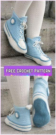 Crochet Women Sneaker Slippers Free Pattern