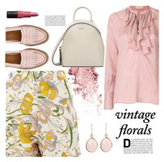"""Vintage Floral"" by redgreenblue ❤ liked on Polyvore featuring Etro, Glamorous, DKNY, Bobbi Brown Cosmetics and vintage"
