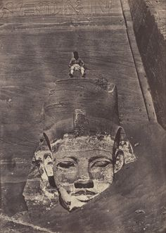Maxime Du Camp (1850) Colossus of Ramses II, the Great Temple, Abu Simbel