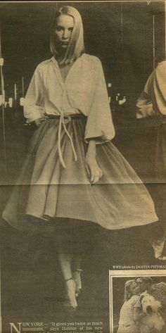Halston- Bias silk tube, one seam skirt 1978
