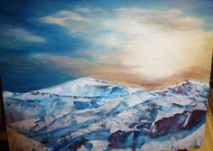 Snow at the Top. Acrylic