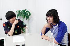 左から尾崎世界観(クリープハイプ)、峯田和伸(銀杏BOYZ)。