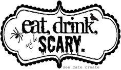 Free Black & White Halloween Printables   A to Zebra Celebrations