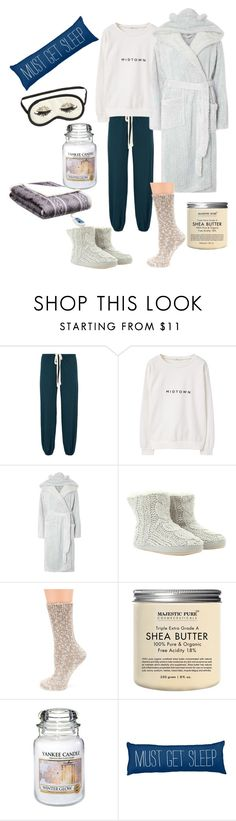 """""""Untitled #209"""" by skylovessave ❤ liked on Polyvore featuring Eberjey, MANGO, Dorothy Perkins, Mint Velvet, Yankee Candle, H&M and Woolrich"""
