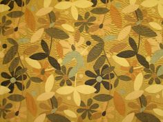 Woven-Summer-Floral-Upholstery-Drapery-Fabric