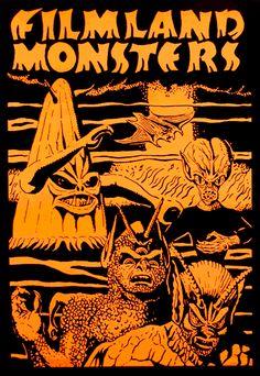 50s B-Movie Monster Poster