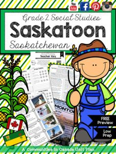 Grade 2 Social Studies Alberta {Communities in Canada: Saskatoon, Saskatchewan} Canadian Social Studies, Social Studies Games, Social Studies Curriculum, Research Projects, Art Projects, Ss Lesson, School Fun, School Ideas, School Community