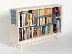 Love this modern bookcase design #cnc #repisas