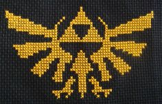 Once i learn how to cross stitch, every pillow in my house will have this design! Hyrule Cross Stitch Design