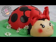 Marienkäfer Torte I Ladybird Cake I Marienkäfer Kuchen I Fondant Cake I Motivtorte - YouTube