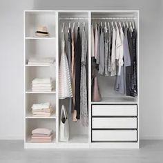 Bedroom Closet Doors Sliding, Bedroom Closet Design, Closet Designs, Diy Bedroom, Ikea Closet Doors, Ikea Closet Hack, Small Closet Design, Closet Curtains, Closet Drawers