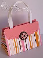 Scallop purse by Diane Barnes made with Stampin' Up supplies