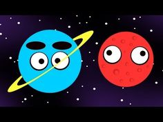 """▶ THE PLANETS ♫ Solar System Song  """"We live in a solar system. In the center is the Sun. All the planets move around it. We've seen every single one orbiting the big, bright sun."""""""