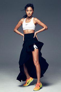 Liya Wang x Nike Women Sport Chic, Sport Girl, Fitness Photography, Fashion Photography, Leggings, Zumba, Athleisure, Oufits Casual, Fitness Photoshoot